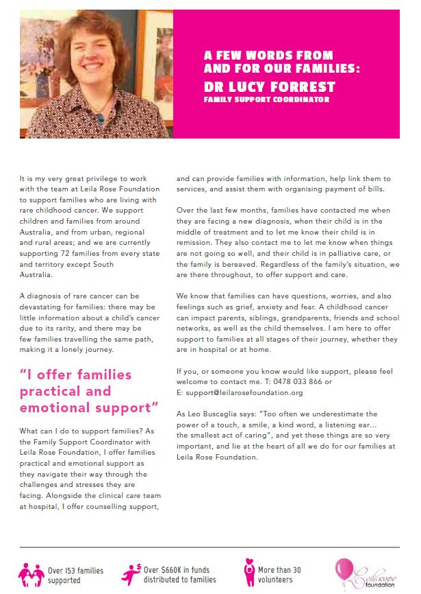 January - June 2019 Newsletter • Leila Rose Foundation